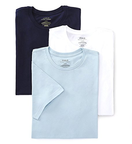 Classic Crew Neck T-Shirts 3-Pack,Blue / White,X-Large (Pack T 3 Shirt)