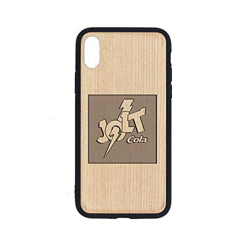 Logo JOLT COLA - iPhone Xs MAX Case - Maple Premium Slim & Lightweight Traveler Wooden Protective Phone Case - Unique, Stylish & Eco-Friendly - Designed for iPhone Xs MAX