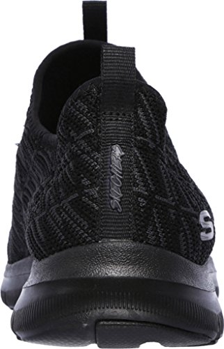 Skechers Flex Appeal 2.0- Insights Mujer US 6 Negro Zapato para Correr