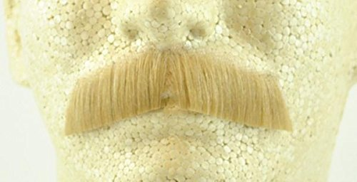 Gentleman Moustache BLONDE - no. 2011 - REALISTIC! 100% Human Hair - Perfect for Theater - (Theatrical Moustaches And Beards)