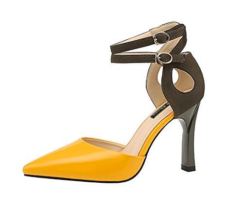 Nvxie Sottili Lavoro Donna Yellow 38 Tip Tacchi Sexy Da Scarpe 34 A Spillo Nightclub Fashion Semplici Alti rrOgwqp8