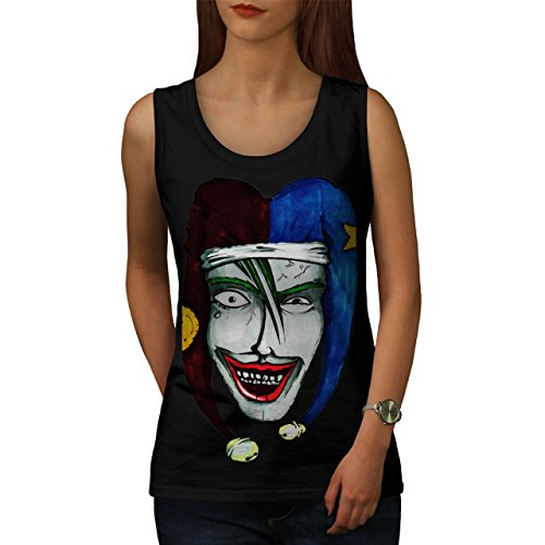 Smiling Scary Clown Joker Laugh Women NEW XXL Tank Top | Wellcoda (Scary Smiling Clown)