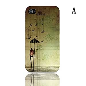 Mini - The Shining Series Pattern Hard Case with 3-Pack Screen Protectors for iPhone 4/4S0 , Color: B