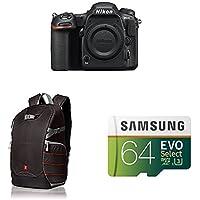 Nikon D500 DX-Format Digital SLR (Body Only) w/ AmazonBasics Accessories
