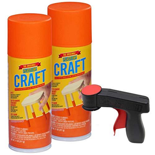 New Plasti Dip Craft Aerosol Kit, 2-11 oz. Aerosol Pumpkin Spice, and Cangun
