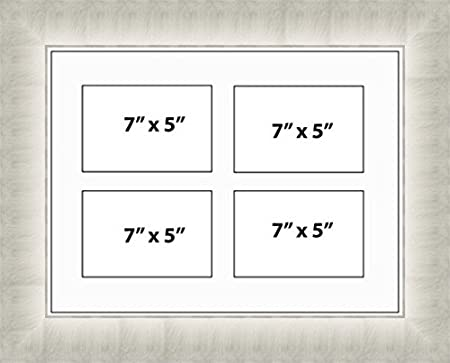 Kwik Picture Framing   MULTI APERTURE PHOTO FRAME FITS 4 7x5 PHOTOS ...