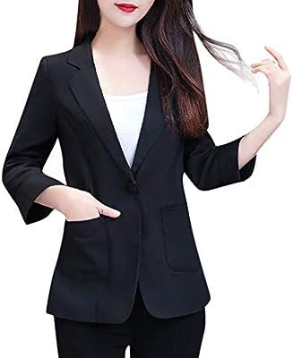 Womens Long Sleeve Button Down Long Blazer Suit Jacket Coat Outwear Overcoat Top