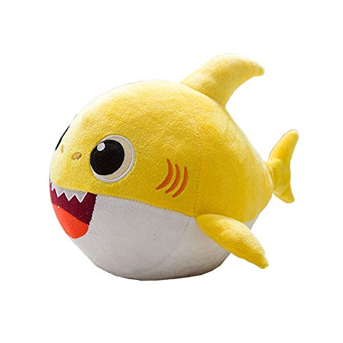 (QTIVY Baby Shark Singing Plush Toy Adorable Dancing Shark Stuffed Animal Doll Great Gift for Baby & Toddler)