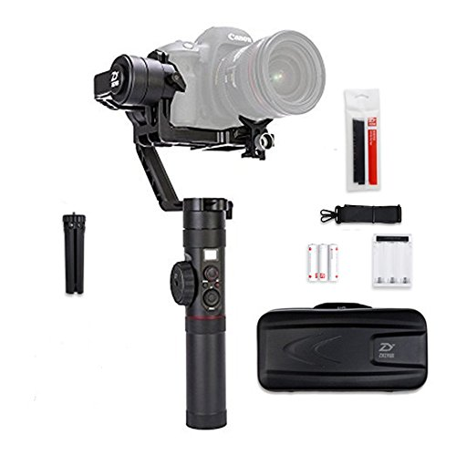 Zhiyun Crane 2 3 Axis Handheld Gimbal Stabilizer with Real Time Follow Focus Control,OLED Display Support for DSLR Cameras 3.2KG Max.Payload by zhi yun