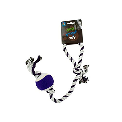 Dog rope tennis ball toy-Package Quantity,96 by duke's