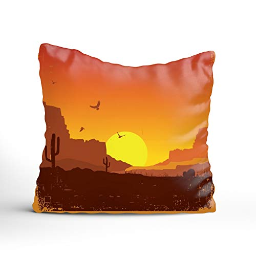 (Jailjack West American Durable Cotton Square Decorative Throw Pillows Cushion Covers Cases Pillowcases for Sofa 16