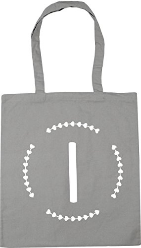 Initial Grey x38cm litres Light Bag I 10 HippoWarehouse Shopping 42cm Tote Gym Beach g77q5B
