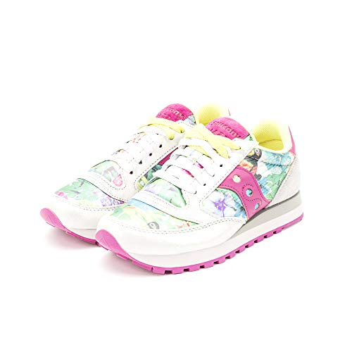 Grey Triple sneakers Saucony Floral Jazz 60450 Pink Original Lurex Camoscio In E 4zqHpx