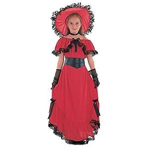 Disfraz de niña de Escarlata O'Hara. 10 - 13 años