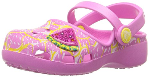 crocs Karin Watermelon K Mini-Heel Clog (Toddler/Little Kid), Party Pink, 10 M US Toddler by Crocs