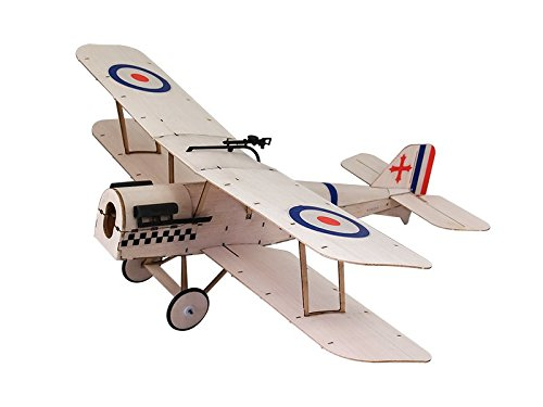 RC Airplane 3CH Radio Remote Controlled Electronic Aircraft Mini Balsa Wood Indoor Plane Model Wingspan 378mm SE5A kit