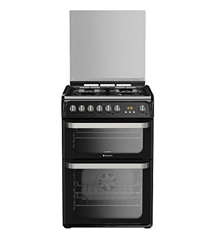 Hotpoint HUD61KS Cooker Freestanding Dual Fuel Double Oven Black