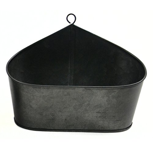 8.5'' Charcoal Black Galvanized Tin Container with Loop by The Costume Center