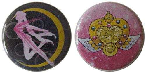 Transformation Silhouette & Eternal Moon Article 1.25 Inch Magnet (Eternal Sailor Jupiter Costume)