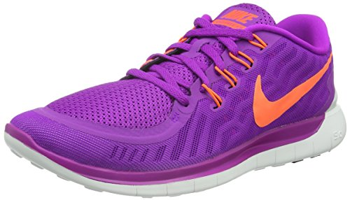 Nike Women's Free Running Shoe Vivid Purple/Black/Fuchsia Glow/Hyper Orange