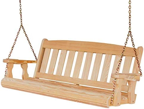 Amish Heavy Duty 800 Lb Mission 4ft. Treated Porch Swing