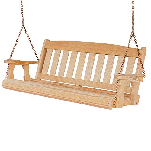 - CAF Amish Heavy Duty 800 Lb Mission 5ft. Treated Porch Swing With Cupholders