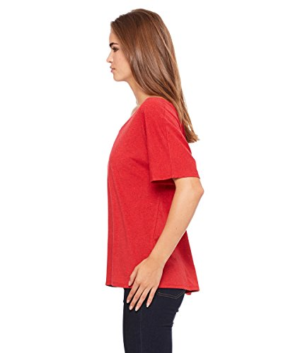 Bella Damen Blended Bauch einfach Tee XXL rot - Red Speckled