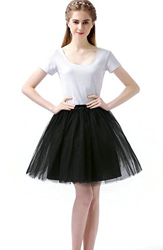 Cute Poodle Skirts (Sheicon Women Lace Ballet Tutu Princess Dress Dance Skirt For Adult (Plus, Black))