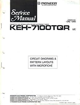 pioneer keh 7100tqr cassette car stereo am fm electronic tuner rh amazon com Pioneer Car Radio Diagrams Pioneer Car Radio Diagrams