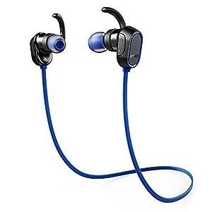 Anker SoundBuds Sport Ecouteurs Bluetooth Sans Fil avec Autonomie de 8 Heures, Microphone, Technologie CVC 6.0 et Indice de Protection IPX4 (Splashproof) – Ecouteurs Bluetooth pour le Sport Compatibles iPhone, Android, etc.
