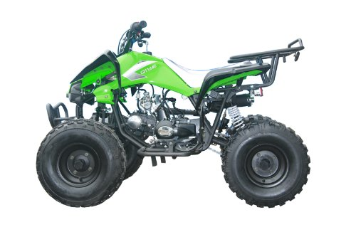 125cc Sports ATV 8'' Tires with Reverse, Green by Coolster (Image #3)