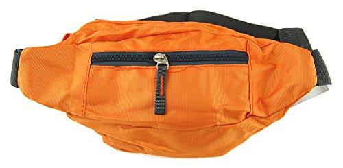 NB24 Bauchtasche, Gürteltasche, orange, (2434) Geldtasche für Damen, Herren und Kinder, Nylon, Bag Street, Tasche, Freizeittasche, Schultasche