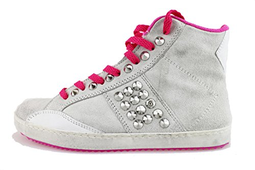 CULT sneakers mujer gris / hielo Fucsia gamuza tachuelas ice/Fucsia