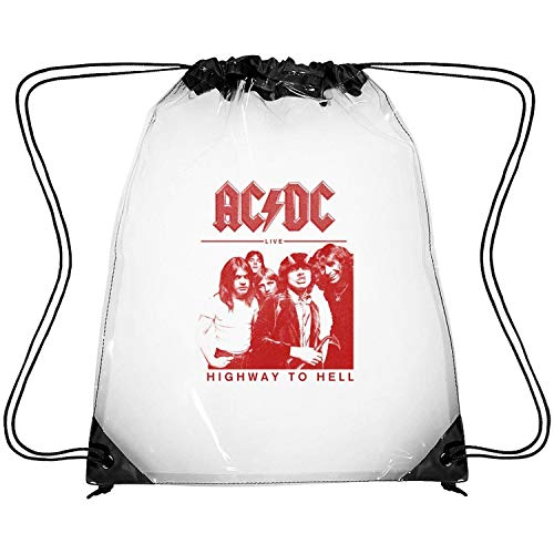 (SEeRRroO Clear Drawstring Backpack Rock and Roll Music Band Album Cover Decor Beach Sack Pack Dancing Bag for Men)