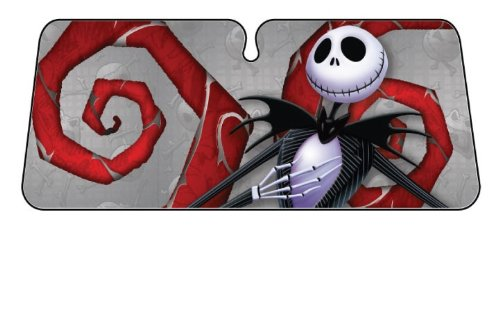 Plasticolor 003677R01 Accordion-Style 'Nightmare Before Christmas' Windshield Sunshade