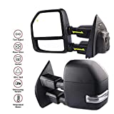 MOSTPLUS New Power Heated Towing Mirrors w/Temperature Sensor for Ford Super Duty F-250 F-350 F-450 F-550 2017 2018 w/Blind Spot,Turn Signal,Clearance and Auxiliary Lamp(Set of 2)