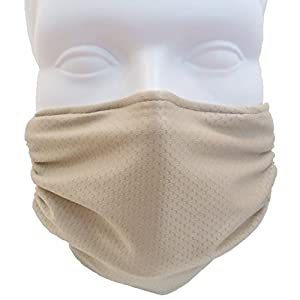 Breathe Healthy Honeycomb Beige Mask - Asthma/Allergy Air Filtering Dust Mask with Germ Killing Antimicrobial Ideal for Sanding & Drywall, Renovation & Construction