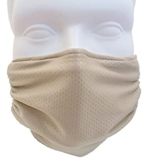 55d24cbae28 Breathe Healthy Honeycomb Beige Face Mask - Asthma Allergy Air Filtering  Dust Mask with Germ
