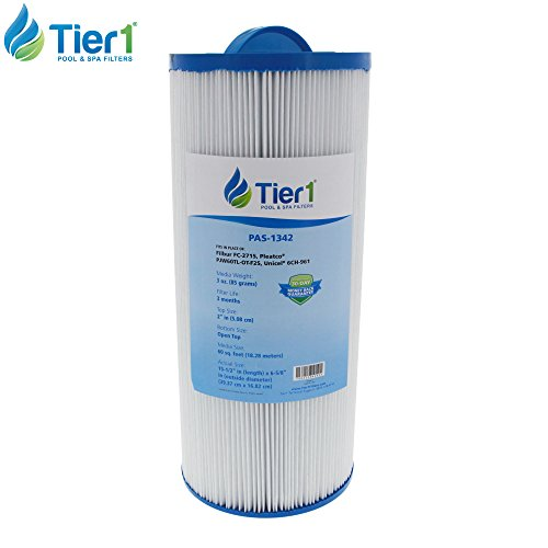 Tier1 Jacuzzi 6541-383 Replacement Filter Cartridge for Jacuzzi J300, Pleatco PJW60TL-OT-F2S, Filbur FC-2715, Unicel 6CH-961