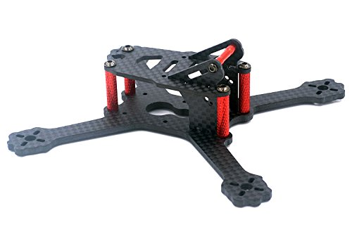 Crazepony X 135 FPV Drone Frame Carbon Fiber with 3mm Arms, Freestyle X Frame Quadcopter Kit for 1104 1105 1106 1306 Brushless Motor (Suitable for 2'' 3'' propeller)