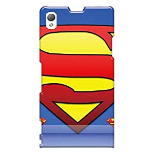 LauraFuchs Sony Xperia Z1 Shock Absorption Hard Phone Case Support Personal Customs Lifelike Superman Lock Pictures [ikJ16783EpMM]