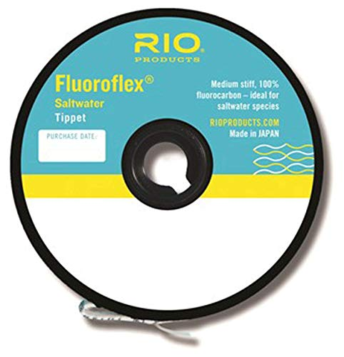 Rio Fluoroflex Plus Tippet - Rio Fly Fishing Tippet Saltwater Tippet 30yd 30Lb Fishing Tackle, Clear