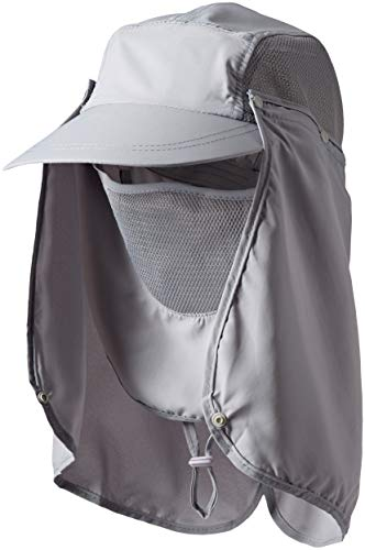 VEBE Outdoor Fishing Hat, 360 ° UV Sunscreen Sun Hat Removable Neck And Mask Cap, Solar Protection UPF 50+ Outdoor Garden, Fishing Outdoor Activities