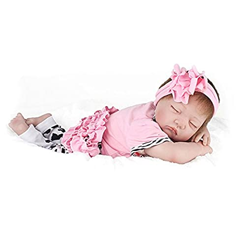 22inch Reborn Baby Doll Handmade Lifelike Girl Play House Toy (How Do I Get More Storage On M)