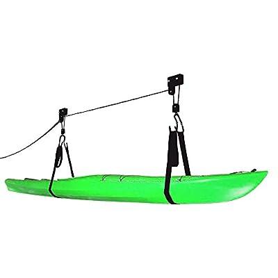 2018 Kayak & Canoe Lift Hoist Kayak For Garage / Canoe Hoists 125 lb Capacity by RAD Sportz