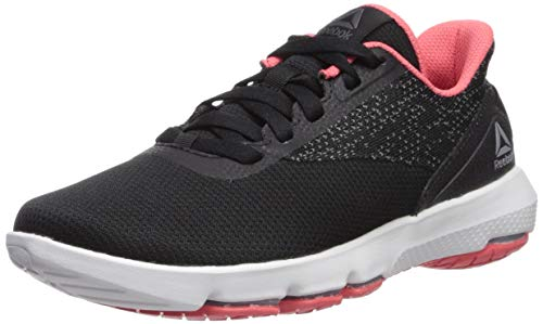 Reebok Women's Cloudride DMX 4.0 Walking Shoe Black/Cold Grey/Bright Rose/White 6.5 M ()
