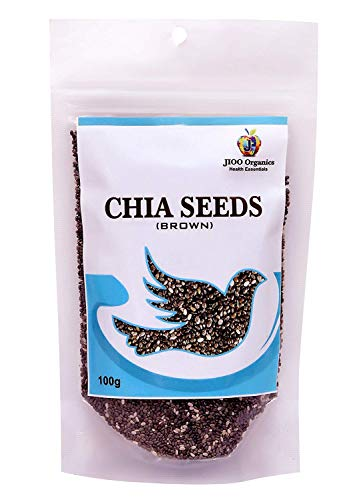 Jioo Organics Brown Chia Seeds(Rich in Antioxidant & omega3 Fatty Acid) 100 g ()