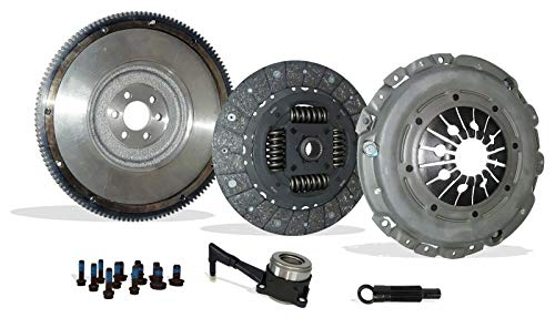 Clutch And Flywheel Conversion Kit works with Audi TT Quattro Volkswagen Beetle Golf Gti Jetta Base S Line Gl Gls Sportline Gti Gli Glx 2000-2006 1.8L L4 2.8L V6 (6 Speed)