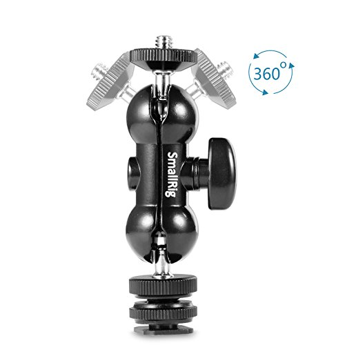SMALLRIG Cool Ballhead Multi-Function Double Ballhead with Shoe Mount & 1/4