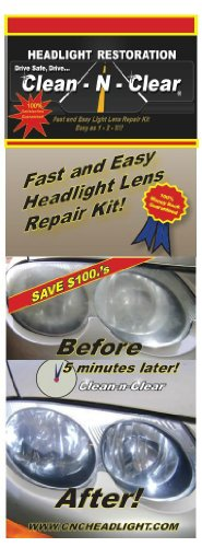how to clean clear plastic headlight lenses